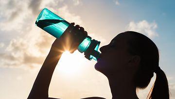 vesi, nainen, juoda