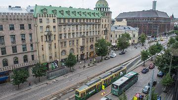 AOP, Helsinki, mannerheimintie, keskusta, katu, julkinen liikenne, liikenne