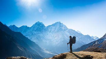 himalajan vuoristo kiipeilijä