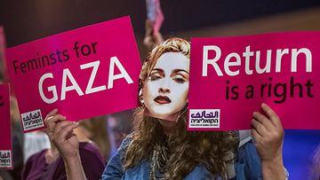 Madonnan esiintyminen euroviisufinaalissa 18.4.2019 protesti