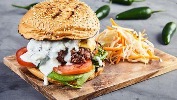 hampurilainen coleslaw burgeri