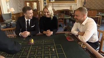 Niki Juusela, Mervi Kallio, Valtteri Bottas, 2019, kasino, Monaco