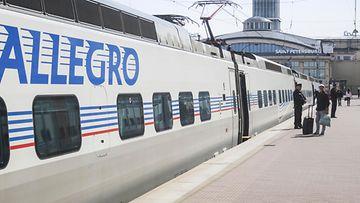 Allegro-juna Pietarissa kesä 2018