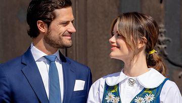 Carl Philip ja Sofia Ruotsin kansallispäivänä (1)