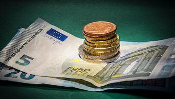AOP, raha, käteinen, seteli, kolikko, kolikot, euro, eurot