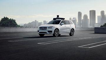 volvo xc90 uber robottiauto autonominen auto