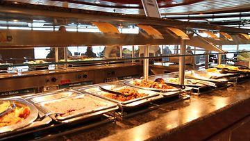 AOP, buffet, laiva, risteily, ruoka, lounas, lounaslinjasto