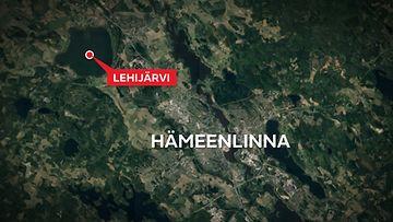Lehijärvi-Hattula-kartta