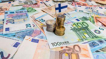 kuvituskuva talous euro suomi