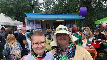 Kirkon edustajia Pridessa 2019