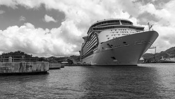 Freedom of the Seas -loistoristeilijä maaliskuu 2019 Saint Lucian saari Karibia