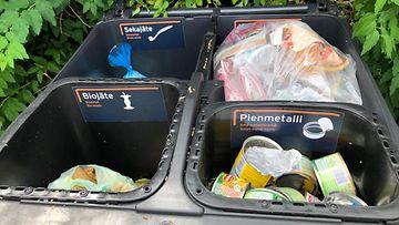 Jätteet, jätteidne lajittelu, roska-astia, lajittelu