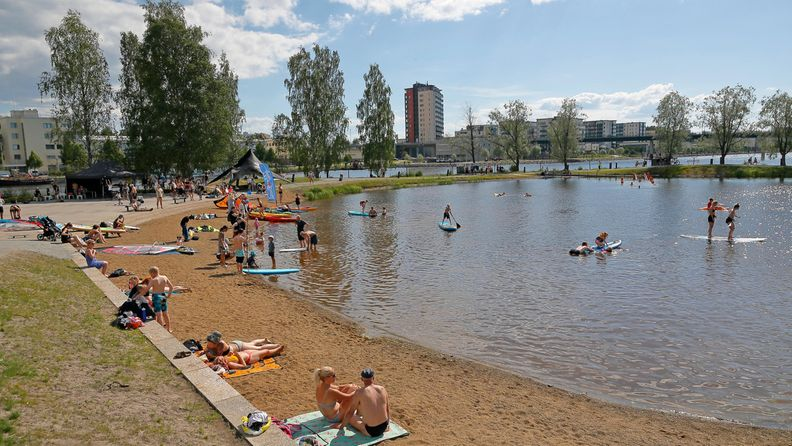 AOP helle, ranta, kesä, uimaranta
