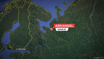 Arkangel venäjä kartta
