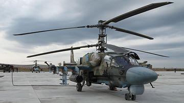 AOP, Venäjä, Kamov Ka-52, helikopteri, sotilashelikopteri
