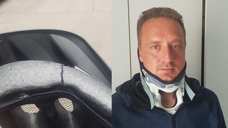 Sami Heikkinen pyöräilyonnettomuus