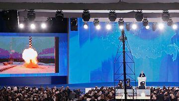 Putin esittelee ohjussuunnitelmia 1