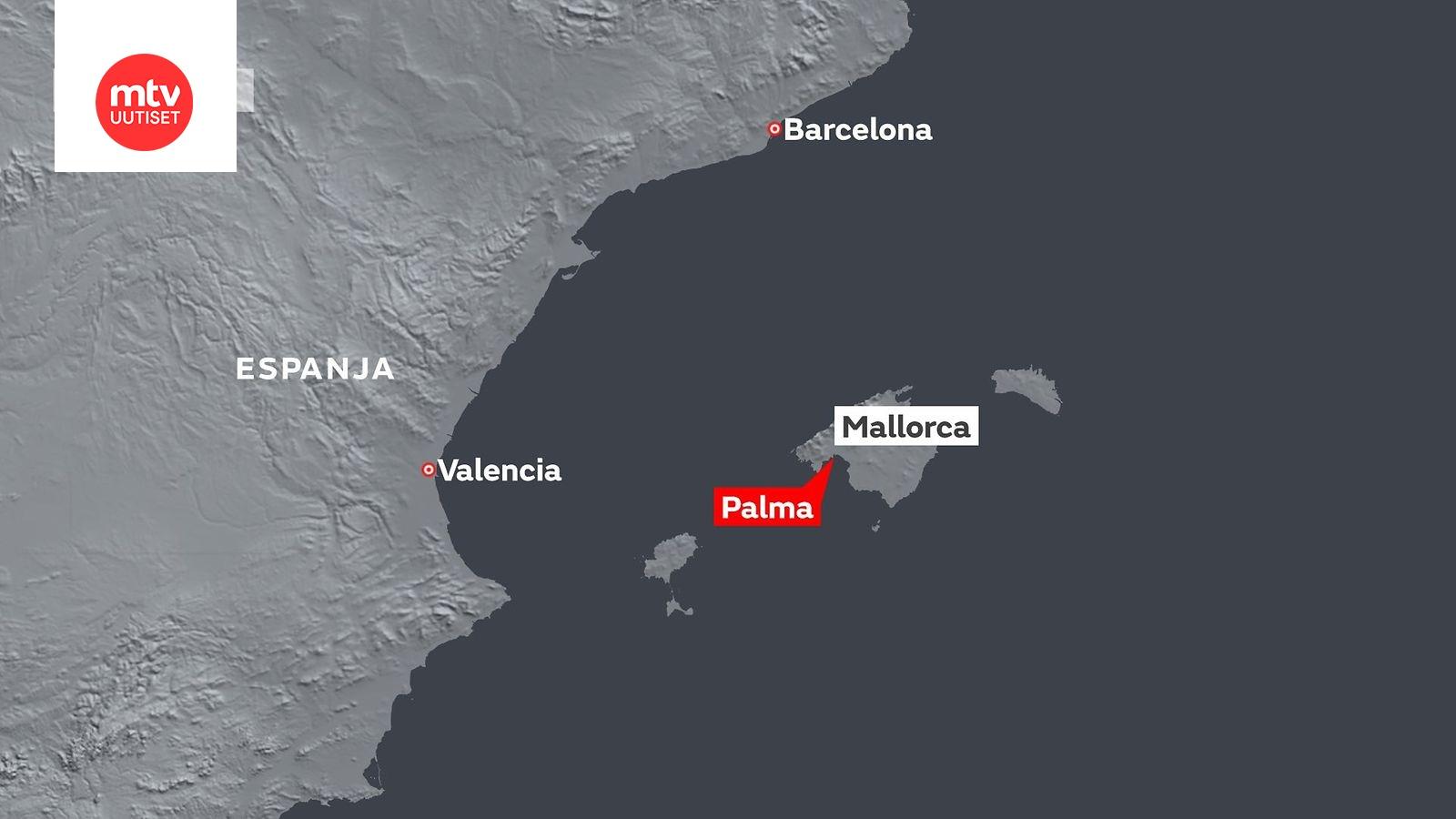 Rajuilma Moukaroi Espanjan Itarannikkoa Asukkaita Evakuoitu Ja