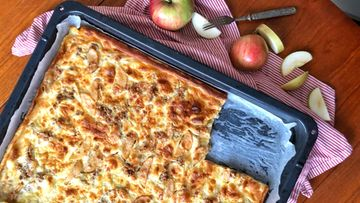 omenapannari pannukakku omena-kaurapannukakku