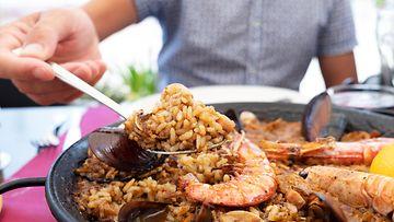 Paella ruoka