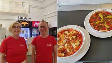 Anne ja Jukka Nordlund pohjaton pizza Jubupizza