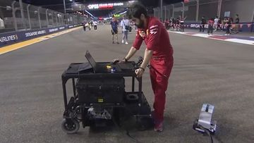 Ferrari, asfalttimies, 2019, Singapore