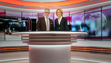 MTV Uutiset uutisstudio toimitus uutislähetys Keijo Leppänen Maija Lehmusvirta 1