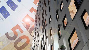 kerrostalo asunnot raha asuminen kuvitus AOP