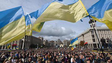 LK Ukraina Kiova, mielenosoitus 0610