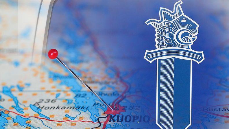 Kuopio kartta poliisi kuvitus AOP