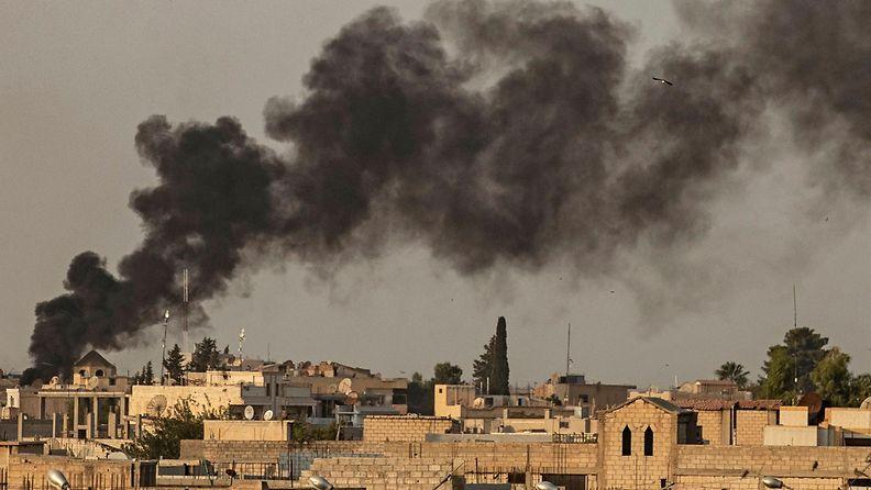 Pohjois-Syyria Ras a-Ain Turkki pommitukset 9.10.2019