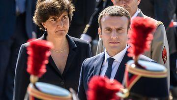 Sylvie Goulard ja Emmanuel Macron toukokuu 2017