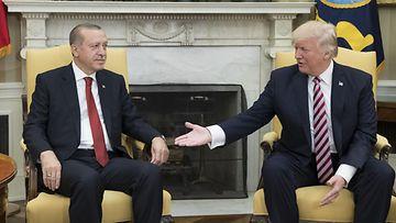 Trump ja Erdogan Valkoinen talo toukokuu 2017