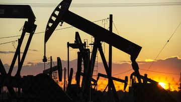 öljykenttä, öljy, Kern Riverin öljykenttä, Bakersfield, Kalifornia