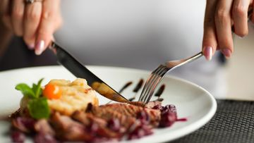 ruoka, lautanen, liha