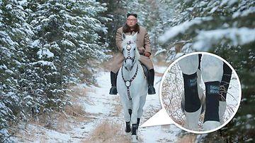 Kim Jong-un ratsastaa