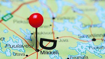 Mikkeli kartta kuvitus AOP