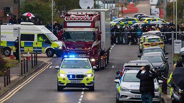 Essex ruumisrekka siirrettiin poliisi Grays 23.10.2019