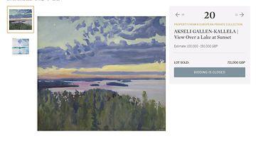 LK: Akseli Gallen-Kallela huutokaupattu maalaus