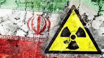 Iran ydinvoima säteily kuvituskuva