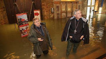 AOP Venetsia Italia Pyhän Markuksen kirkko tulva