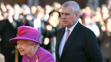 kuningatar Elisabet prinssi Andrew