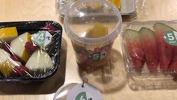 Slush, hedelmät, keksintö, pakkaukset