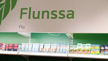 AOP: flunssa, apteekki, lääkkeet