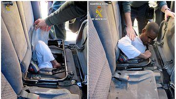 AOP: marokkolaisten siirtolaisten salakujetus autossa