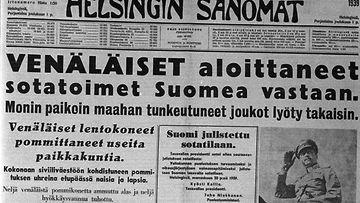 Neuvostoliitto hyökkäsi suomeen 30.11.1939 LK