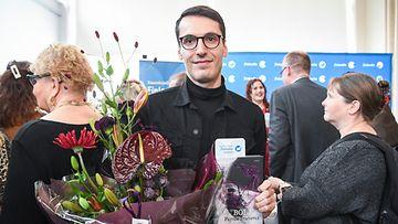 Pajtim Statovci kirjallisuuden Finlandia-ehdokkaat julkistus Helsinki 7.11.2019 2