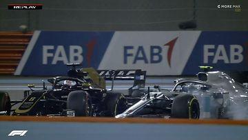 Valtteri Bottas, Romain Grosjean, 2019, Abu Dhabi, kolari