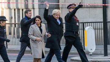 boris johnson vieraili london bridgella epa