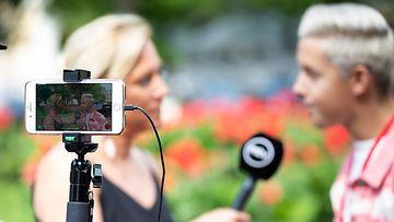 Media haastattelu